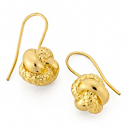KNOT EARRINGS COACH F96239
