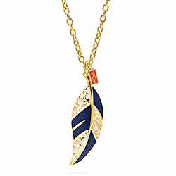COACH SIGNATURE FEATHER NECKLACE - ONE COLOR - F96242