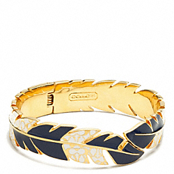 COACH HINGED FEATHER BANGLE - ONE COLOR - F96244