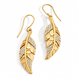COACH FEATHER EARRINGS - ONE COLOR - F96248