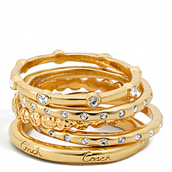 COACH FIVE RING SET - ONE COLOR - F96249