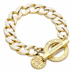 COACH TOGGLE CHAIN BRACELET - ONE COLOR - F96252