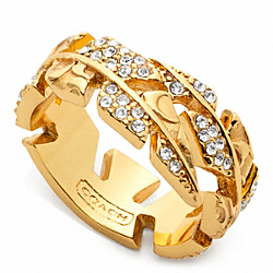 FEATHER WRAP RING COACH F96258