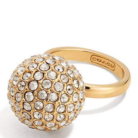 COACH LARGE PAVE BALL RING -  - f96263