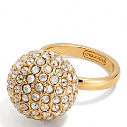 COACH LARGE PAVE BALL RING - ONE COLOR - F96263