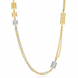MULTI CYLINDER STATION NECKLACE COACH F96264