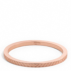 OP ART METAL BANGLE COACH F96267