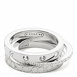 COACH STERLING STACKING RINGS - ONE COLOR - F96281