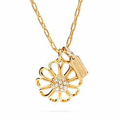 COACH PAVE FLOWER NECKLACE - ONE COLOR - F96293