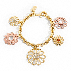 COACH F96294 - MULTI FLOWER CHARM BRACELET ONE-COLOR