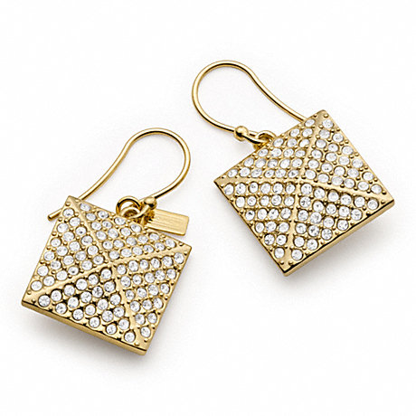 COACH f96321 PAVE PYRAMID DROP EARRINGS