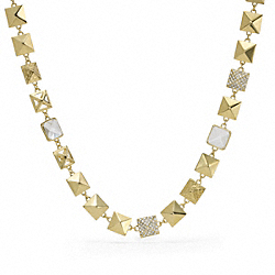 COACH PYRAMID LONG NECKLACE - ONE COLOR - F96326
