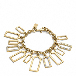 COACH PAVE AND METAL HANGTAG BRACELET - ONE COLOR - F96327