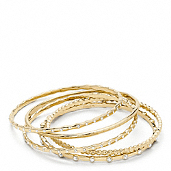 COACH PAVE BRACELET SET - ONE COLOR - F96328