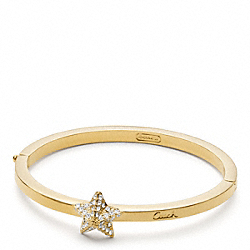 COACH PAVE PYRAMID STAR HINGED BRACELET - ONE COLOR - F96329