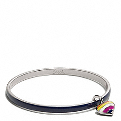 COACH THIN LEGACY HEART DANGLE BANGLE - ONE COLOR - F96331