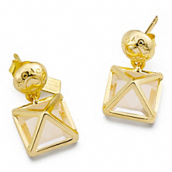 COACH SNAP DROP CRYSTAL EARRINGS - ONE COLOR - F96332