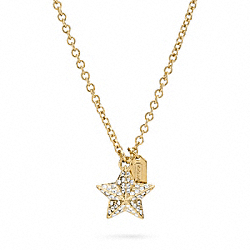 COACH PAVE PYRAMID STAR NECKLACE - ONE COLOR - F96340