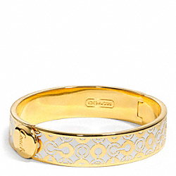 HALF INCH HINGED OP ART BANGLE COACH F96345