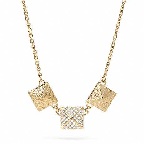 COACH TRIPLE PYRAMID NECKLACE -  - f96349