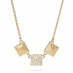 TRIPLE PYRAMID NECKLACE COACH F96349