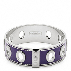 COACH THREE QUARTER INCH GROMMET BANGLE - ONE COLOR - F96353