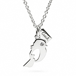STERLING BIRD NECKLACE COACH F96355