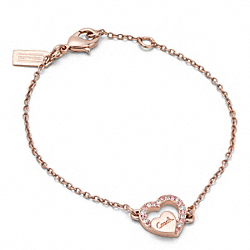 COACH PAVE COACH SCRIPT HEART BRACELET - ONE COLOR - F96357