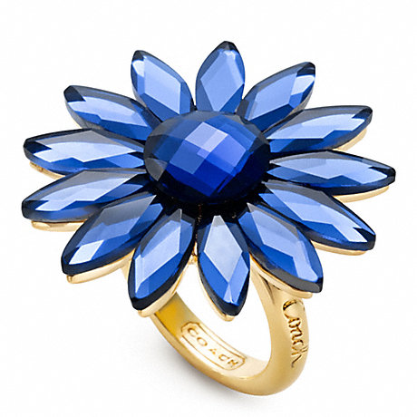 COACH FLOWER COCKTAIL RING -  - f96358
