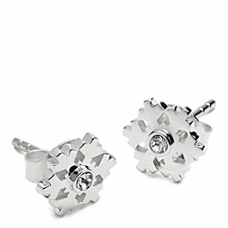 STERLING SNOWFLAKE STUD EARRINGS COACH F96359