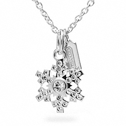 COACH STERLING SNOWFLAKE NECKLACE - ONE COLOR - F96364