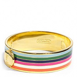 THREE QUARTER INCH HINGED LEGACY BANGLE COACH F96367