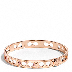 THIN PAVE PIERCED BANGLE - f96369 - 25776