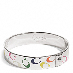 COACH HALF INCH MULTI SIGNATURE C BANGLE - ONE COLOR - F96370