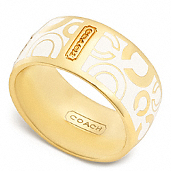 COACH PAVE OP ART RING - ONE COLOR - F96377