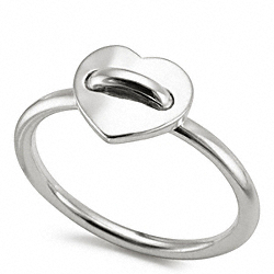 STERLING HEART RING COACH F96380