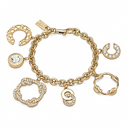 COACH OP ART KNOT CHARM BRACELET - ONE COLOR - F96388
