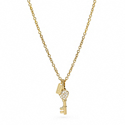 COACH PAVE KEY NECKLACE - ONE COLOR - F96395