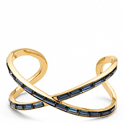 BAGUETTE FIGURE EIGHT CUFF - f96396 - 11297