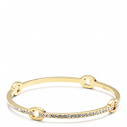 COACH PAVE CIRCLE BANGLE - ONE COLOR - F96401
