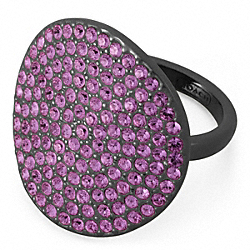 PAVE DISC RING - BKAME - COACH F96415
