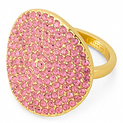 PAVE DISC RING - f96415 - GOLD/MAGENTA