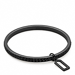 COACH PAVE BANGLE - BLACK/BLACK - F96416