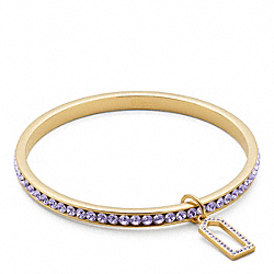 PAVE BANGLE - f96416 - GOLD/PURPLE