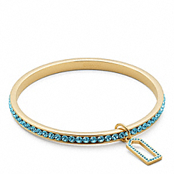COACH PAVE BANGLE - GOLD/TURQUOISE - F96416