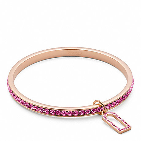 COACH f96416 PAVE BANGLE ROSEGOLD/FUCHSIA