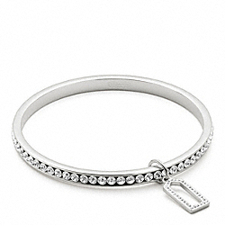 PAVE BANGLE - f96416 - SILVER/CLEAR