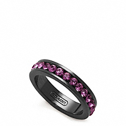 PAVE BAND RING - f96419 - BLACK/LAVENDER