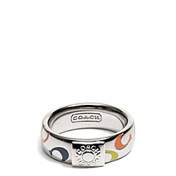 COACH MULTI SIGNATURE C BAND RING - ONE COLOR - F96424