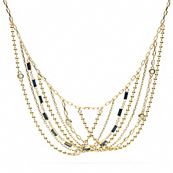 COACH MULTI CHAIN NECKLACE - ONE COLOR - F96479